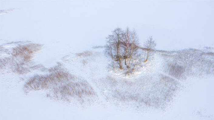 Droonifoto lumisest talvest Drone photography landscapes in Estonia